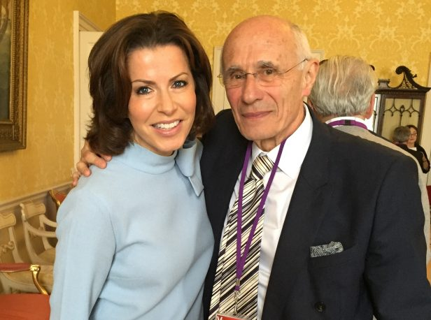 Natasha Kaplinsky with Peter
